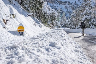 Im Winter ist der Räumdienst auf Mallorca eher selten unterwegs
