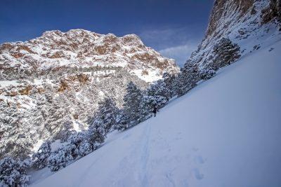 Im Winter zeigt sich der Puig Major von seiner alpinen Seite