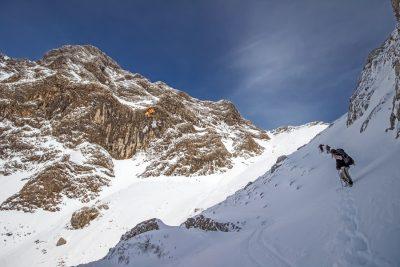 Tief verschneite Winterlandschaft am Fusse des Puig Major